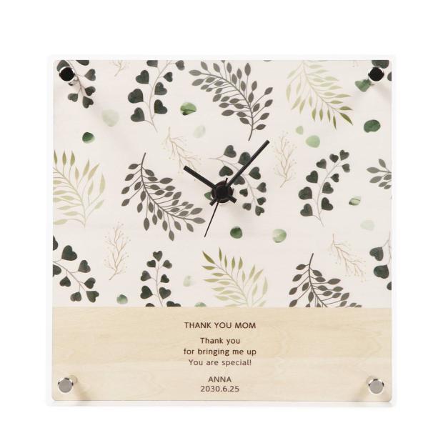 MAG名入れ時計アクリル時計