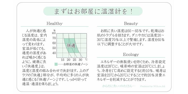 温湿度計の使い方について