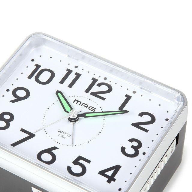 MAG(マグ) 置時計 目覚まし時計 ベル音 連続秒針 ベル太郎 T-704 銀シルバー 1台