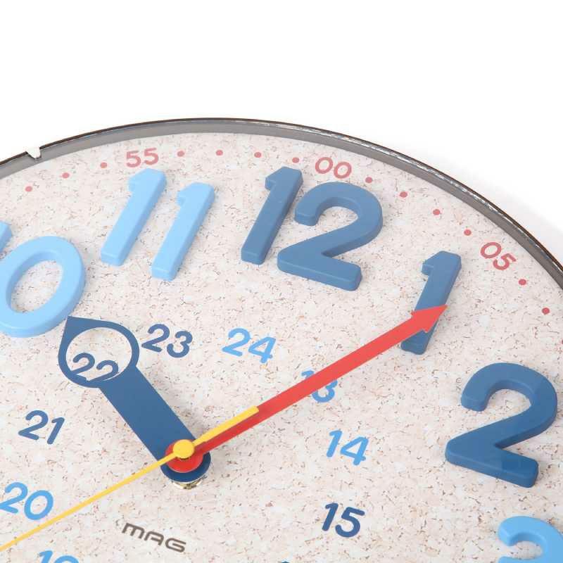 インテリア掛時計[W-750_MAG電波ウォールクロック]知育時計としてお子様におすすめ