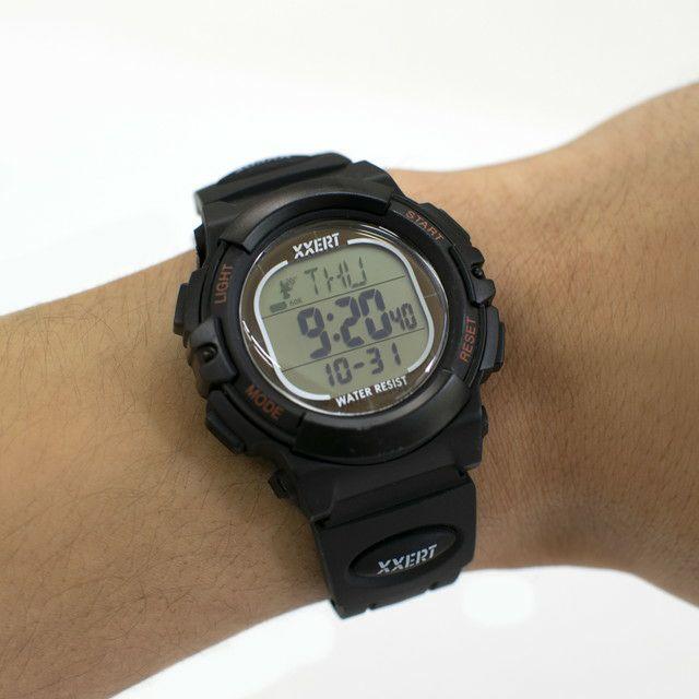 XXERT(エグザート) 腕時計 電波 ソーラー ウォッチ 10気圧防水 カレンダー アウトドア ビジネス 部活 入学 卒業 お祝い プレゼント 小学生 XXW-500 ブラック 1本