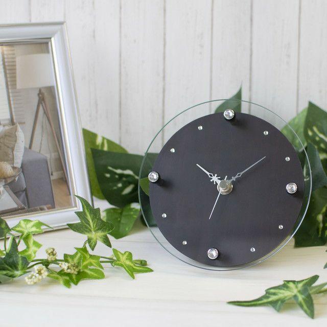 MAG(マグ) ガラス アナログ ミニサイズ 置時計 壁 掛時計 T-753 2針 リビング お祝い おしゃれ 贈り物 ギフト プレゼント 1台