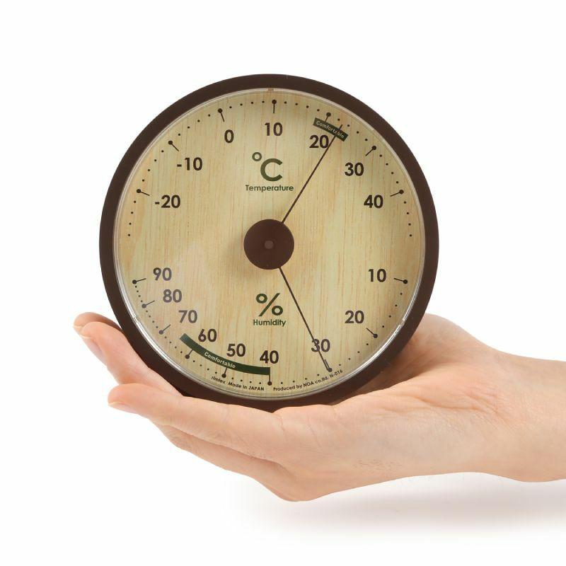 ≪メーカー直販≫ MAG(マグ) 日本製  置掛兼用 アナログ 温度計 湿度計 アシュリー N-016 φ12cm おしゃれ 室内用 壁掛け リビング 赤ちゃん ベビー 1台