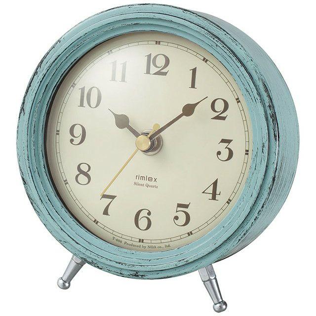 MAG(マグ) アナログ 置時計 連続秒針 エアリアルレトロ ミニ T-688  アンティーク フレンチ リビング お祝い プレゼント かわいい おしゃれ 1台