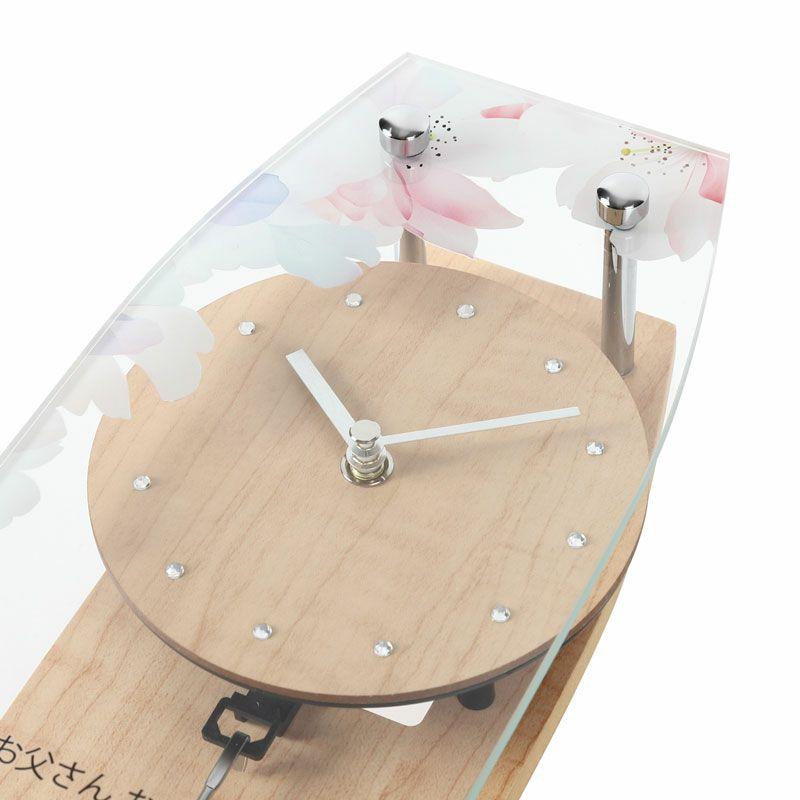 名入れ時計[W-747-CO WH-Z_フラワー]結婚祝いなどおしゃれな贈り物・ギフト・記念品に