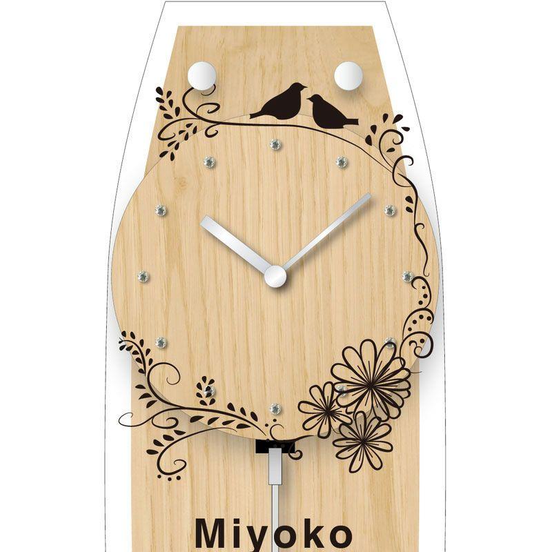 名入れ時計[W-747-CO WH-Z_バード]結婚祝いなどおしゃれな贈り物・ギフト・記念品に