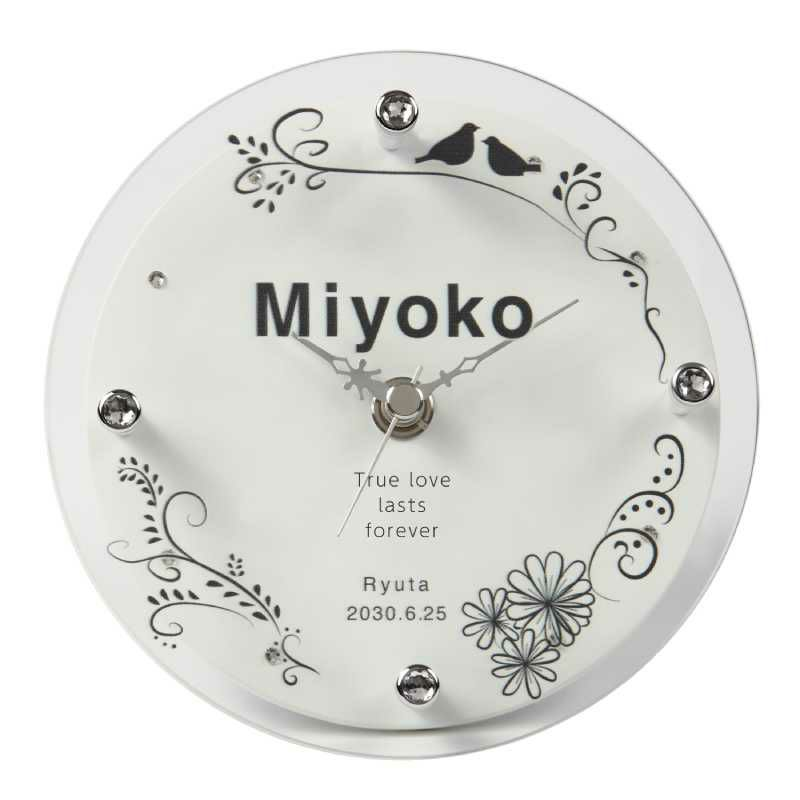 MAG(マグ) 名入れ置時計「バード」 T-753-CO WH-Z_102