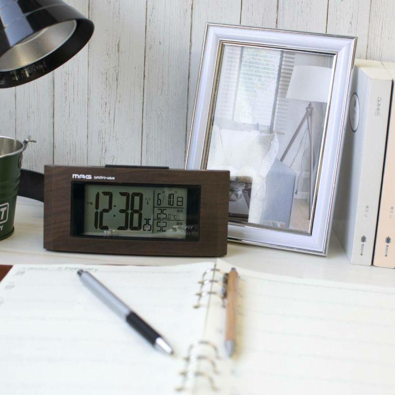 電波時計 ウッドライン