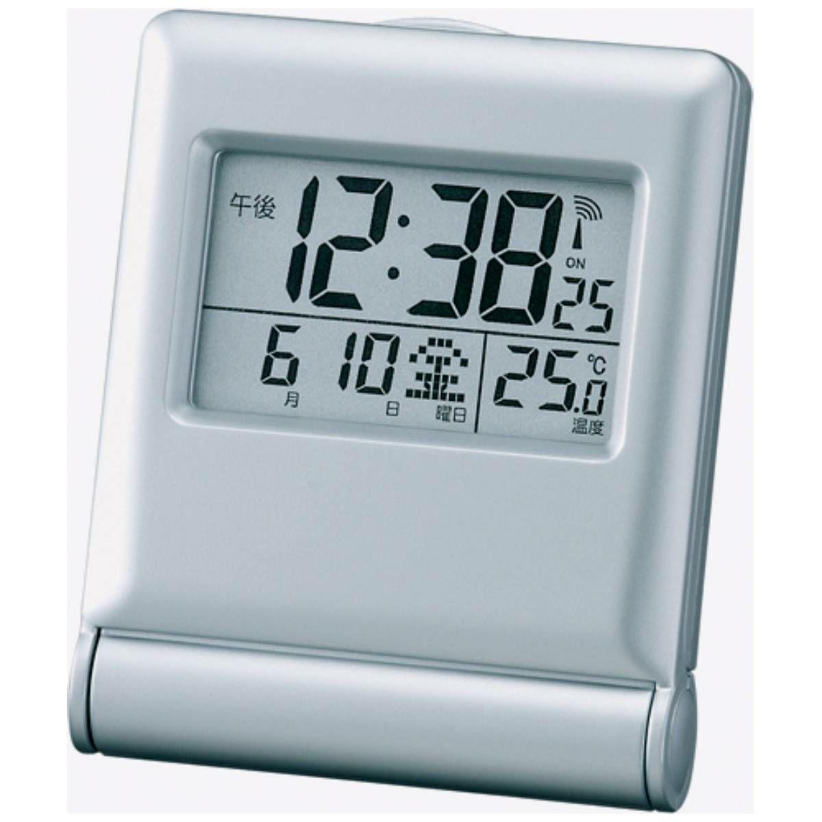 MAG(マグ) ミニサイズ デジタル 電波オンオフ機能付き 置時計 目覚まし時計 ミネルバ T-714 海外旅行 出張 ビジネス 入院 記念品 ギフト 名入れ 1台