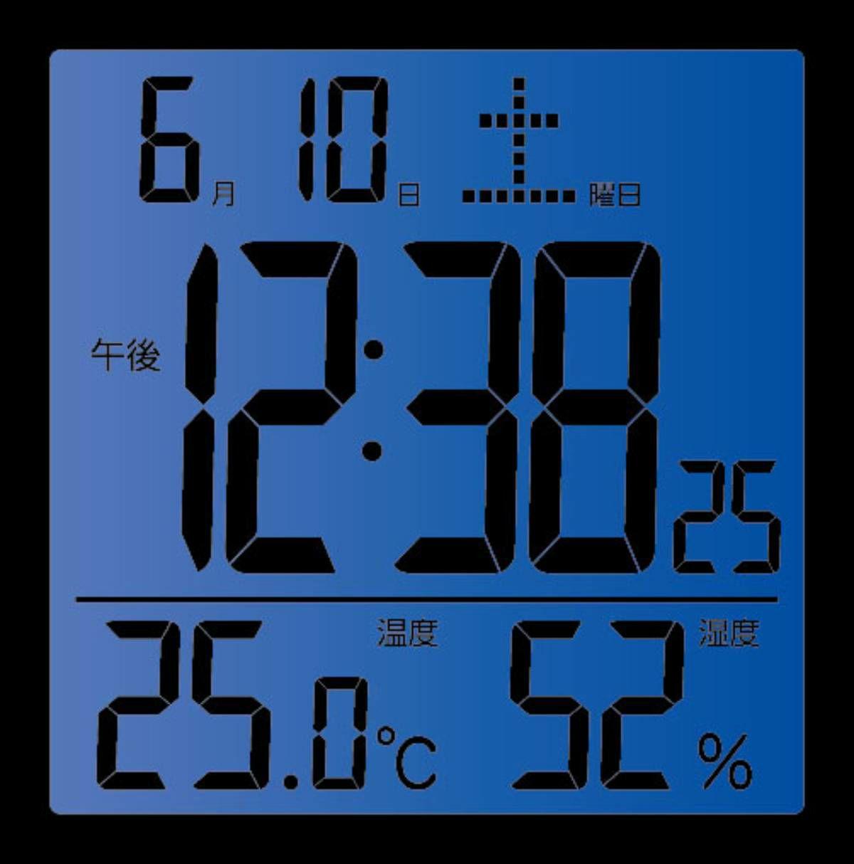 ≪メーカー直販≫ MAG(マグ) T-726 WH-Z デジタル 電波時計じゃない 置時計 目覚まし時計 温度計 湿度計 静音 テレワーク リモートワーク 自宅勤務 便利グッズ カレンダー カッシーニ ホワイト 1台 シンプル みやすい ライト