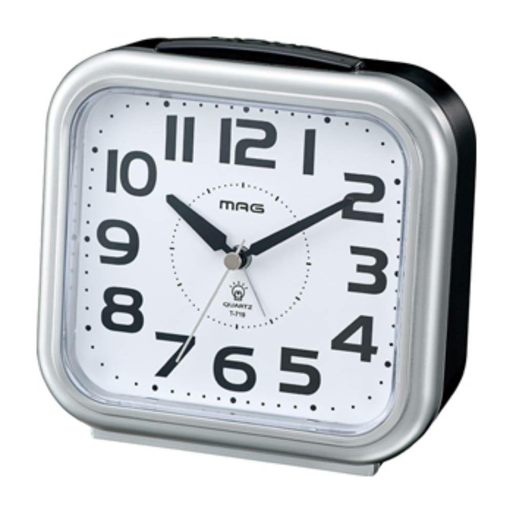 MAG(マグ) アナログ 置時計 目覚まし時計 アップタイム T-719 大きい 見やすい
