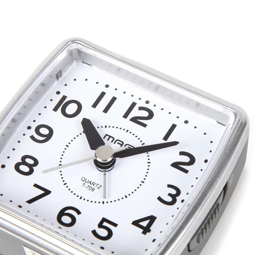 MAG(マグ) ミニサイズ アナログ 置時計 目覚まし時計 連続秒針 小次郎(コジロウ) T-709 海外旅行 出張 ビジネス 入院 1台
