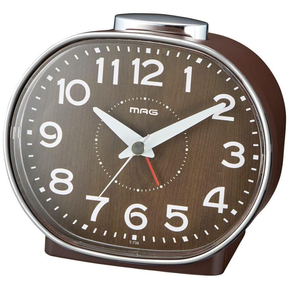 MAG(マグ) アナログ 置時計 目覚まし時計 連続秒針 ホリー T-739 1台