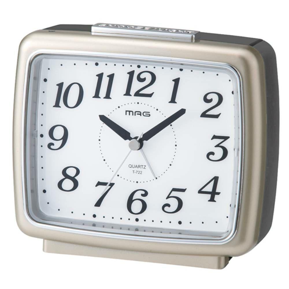 ≪メーカー直販≫ MAG(マグ) アナログ 置時計 目覚まし時計 連続秒針 ライト 自動点灯  ブリリア T-722 1台 夜 見える 目が覚める