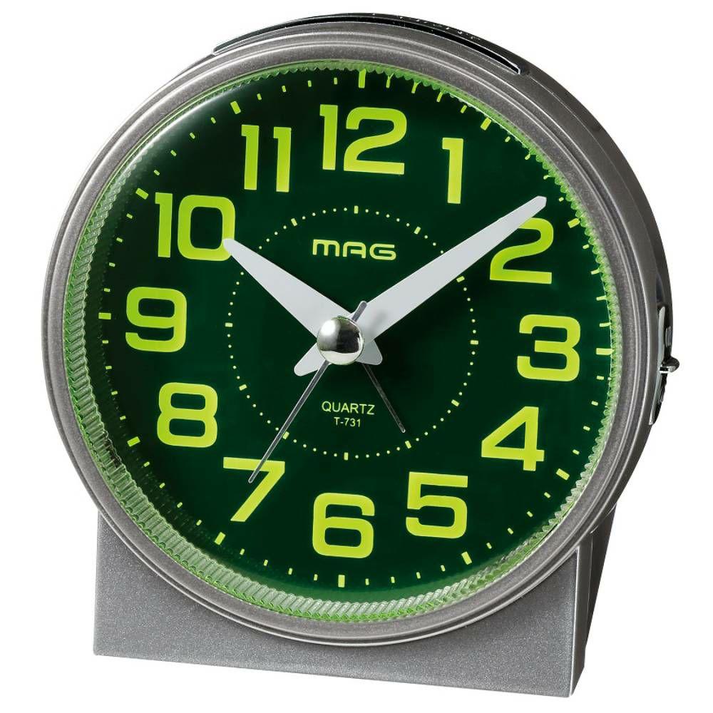 ≪メーカー直販≫ MAG(マグ) アナログ 置時計 目覚まし時計 連続秒針 ライト 自動点灯 光助(コウスケ) T-731 1台 夜 見える 目が覚める