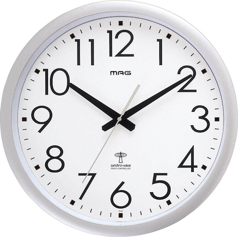 MAG(マグ) アナログ大型電波壁掛け時計 ウエーブ420 W-462