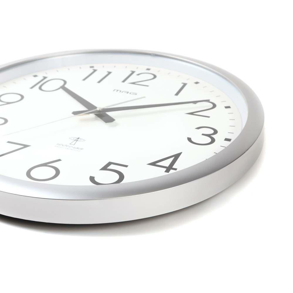 インテリア時計[W-462 SM_大型電波時計 ウェーブ420]