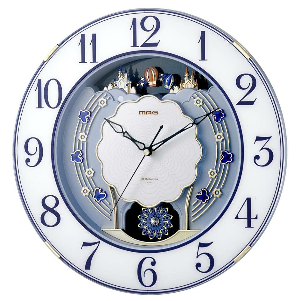≪メーカー直販≫ MAG(マグ) アナログ 電波時計 メロディ 報時 大型 壁掛け時計 ルネッタ W-726 40cm 1台 連続秒針 時報 オフィス 店舗 施設  ギフト 贈り物 記念品