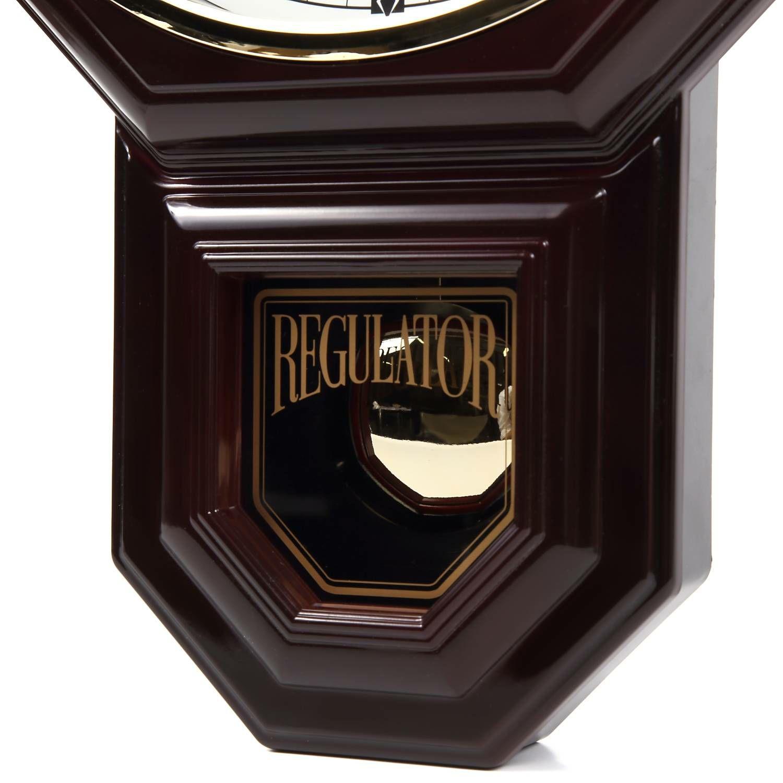 ≪メーカー直販≫ MAG(マグ) アナログ メロディ 報時 振り子 壁掛け時計 西洋館(セイヨウカン) W-670 1台 連続秒針 時報 ボンボン時計 和室