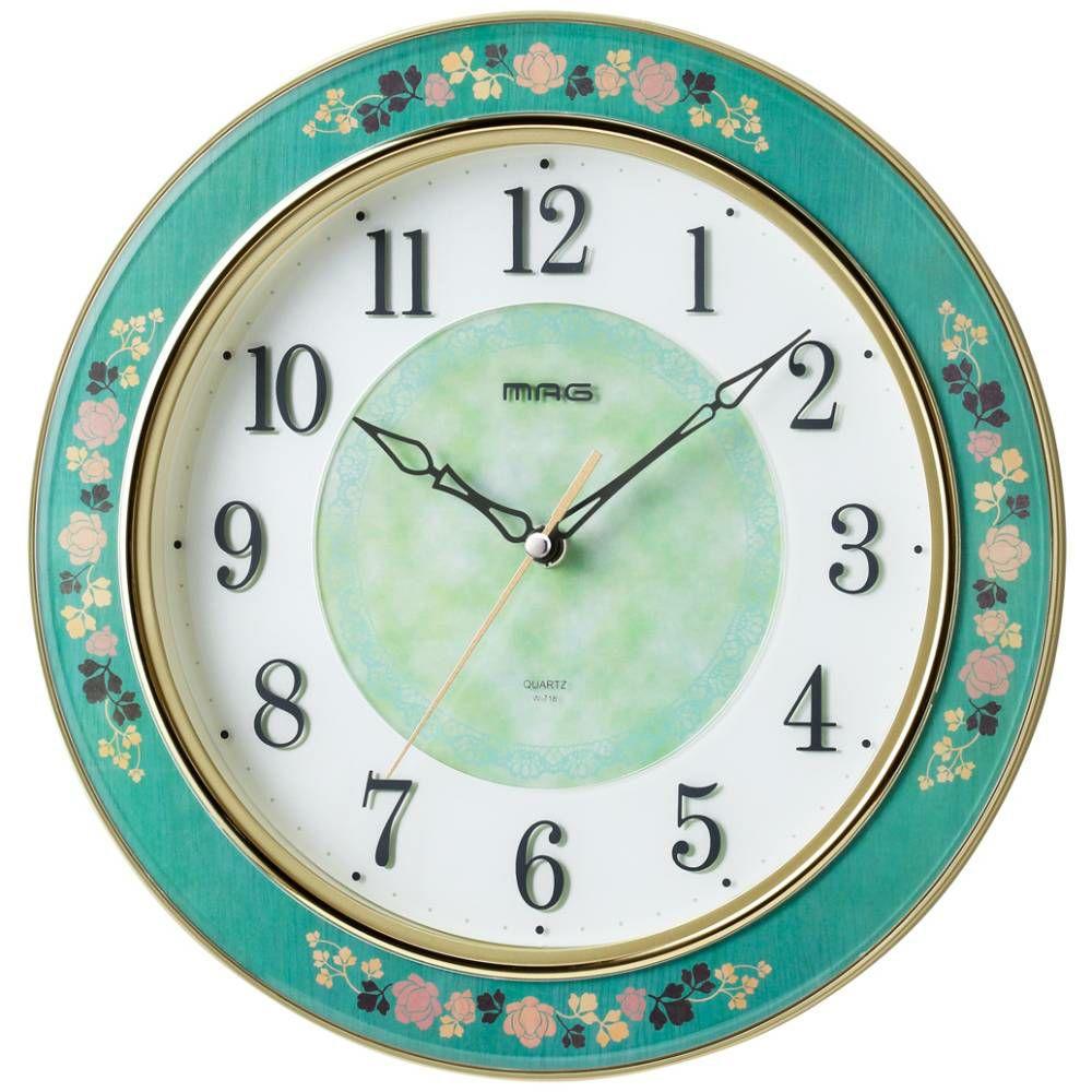 MAG(マグ) 壁掛け時計 グリーンローズ W-718