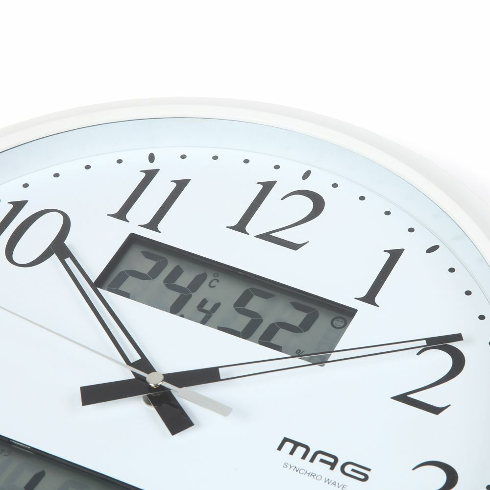 MAG(マグ) 電波壁掛け時計 ダブルリンク W-711