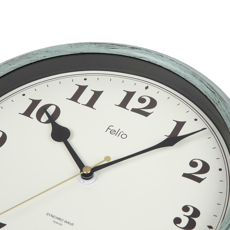 MAG(マグ) アナログ 電波 壁 掛時計 パンナ FEW183 グリーン 28cm 1台 ステップ秒針 おしゃれ かわいい フレンチ シャビー シック インテリア リビング