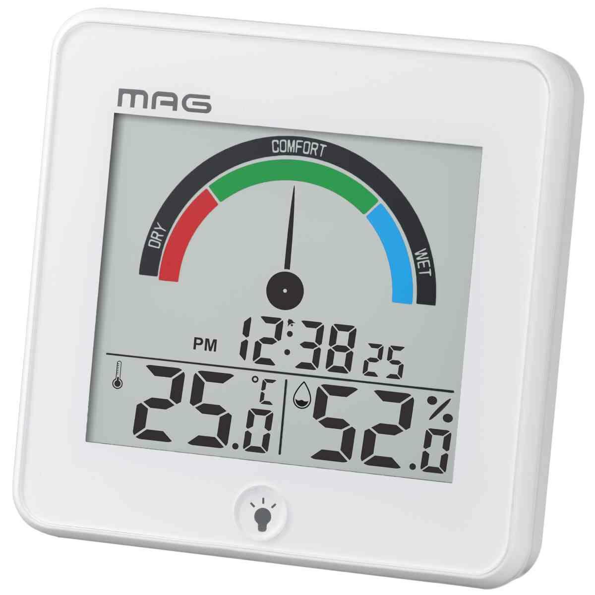 置掛兼用[TH-104_MAGデジタル温度湿度計 インデクス]
