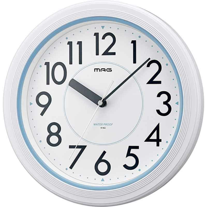 ≪メーカー直販≫ MAG(マグ) W-662 WH-Z 生活防水 防塵 壁掛け時計 アクアガード φ28cm ホワイト 1個 ステップ秒針 IP67 屋外 業務用 お風呂 キッチン 農園 ガーデニング 見やすい