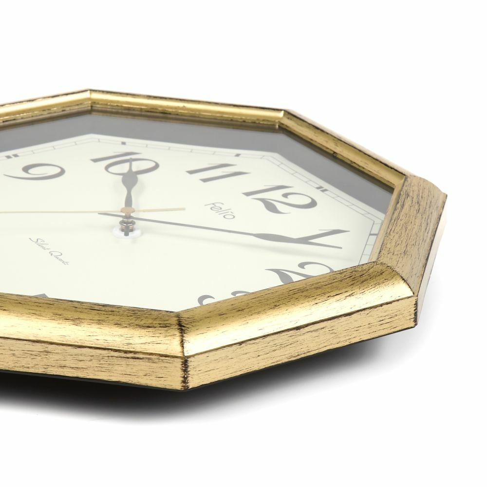 ≪メーカー直販≫ MAG(マグ) アナログ 壁掛け時計 連続秒針 ロートレック FEW179 ゴールド 金色 30cm 1台 木目調 見やすい おしゃれ リビング インテリア 八角形 風水