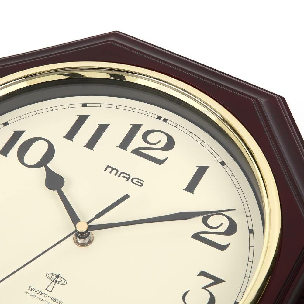 MAG(マグ) アナログ メロディチャイム ボンボン 振り子 壁 掛時計 鹿鳴館DX(ロクメイカン) W-640 ブラウン 1台 ステップ秒針 時報 アンティーク 和室