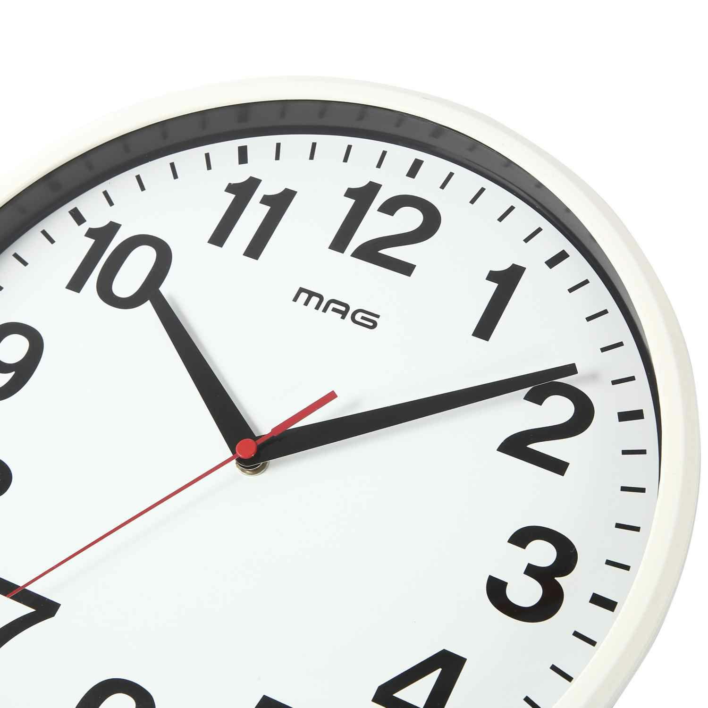 ≪メーカー直販≫ MAG(マグ) アナログ 壁掛け時計 連続秒針 シューレ W-771 29cm 1台 シンプル 見やすい リビング 学校 施設 オフィス 事務所 店舗 業務用