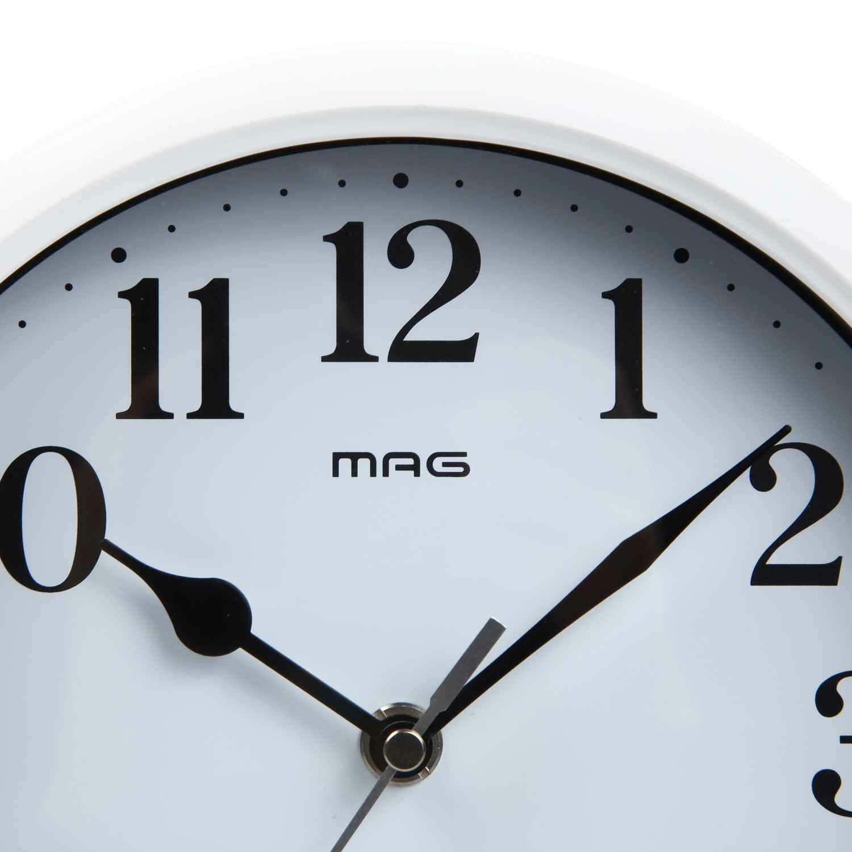 ≪メーカー直販≫ MAG(マグ) アナログ 置掛兼用 壁掛け時計 置時計 メイ W-764 20cm ホワイト 1台 スタンド付き シンプル オフィス 事務所 店舗 工場 学校 施設 業務用 見やすい
