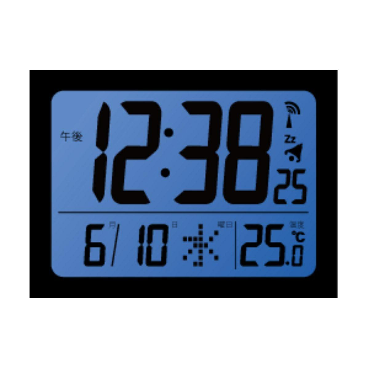 ≪メーカー直販≫ MAG(マグ) デジタル ミニ 電波時計 置時計 目覚まし時計 温度 カレンダー ライト付き コードロン T-761 10cm ホワイト 1台 薄型 寝室 シンプル 見やすい