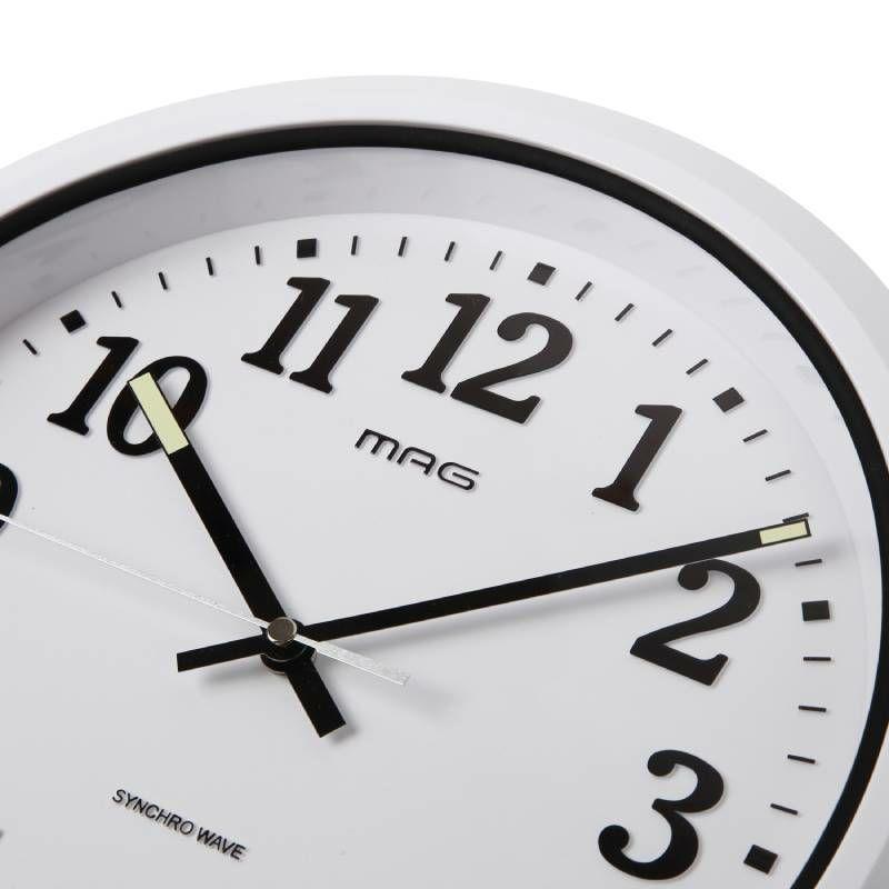 ≪メーカー直販≫ MAG(マグ) 防水 防塵 電波時計 壁掛け時計 ナヤ IP67 屋外 業務用 見やすい W-734 ホワイト 1個 お風呂 キッチン 洗面所 脱衣所 施設