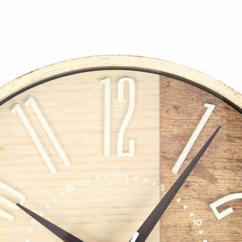 ≪メーカー直販≫ MAG(マグ) アナログ 電波時計 壁掛け時計 木目調フレーム ココア W-769 29cm ナチュラル 1台 ステップ秒針 おしゃれ かわいい 北欧 インテリア リビング  結婚 新築 引っ越し お祝い プレゼント